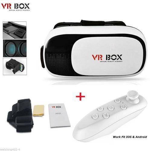 fd06619438b43 Oculos 3d Com Controle Bluetooth Filmes Jogos Game Vr Box - R  79