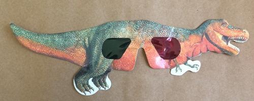 oculos 3d papel t rex coleção dinossauros anos 90 antigo