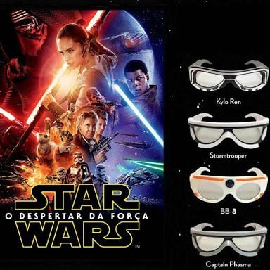 dba63eac1 Óculos 3d Polarizado Cinema Star Wars Clone Trooper Sony - R$ 119,99 ...