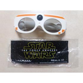 Óculos 3d Star Wars Ep 7 - Bb8 (real D) Novo E Lacrado