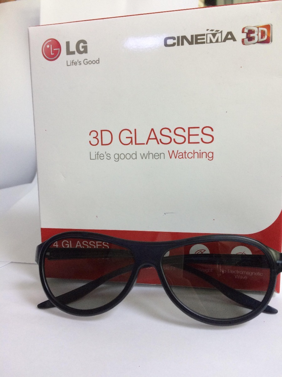 221c4ce0db3da Óculos 3d Tv Lg Agf310 Original Caixa C  Quatro Óculos - R  135,00 ...