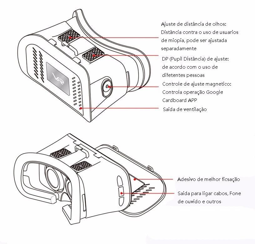 oculos 3d vr box rift com imã realidade virtual controle p07. Carregando  zoom. 757c8813d4
