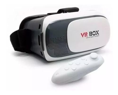 oculos 3d vr virtual box para celular smartphone + controle
