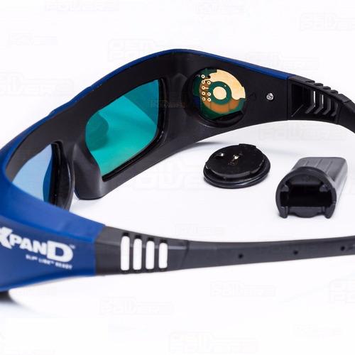 oculos 3d xpand x102 link dlp ativo profissional com bateria