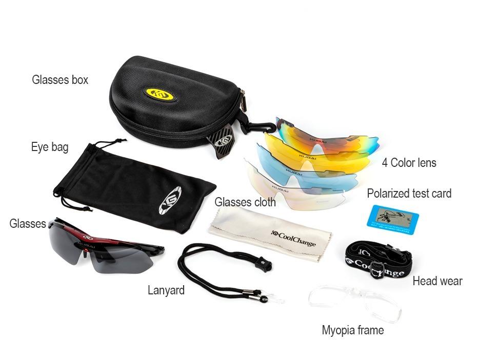 866e4a7fc42ed óculos 5 lentes cool change ciclismo bike polarizado. Carregando zoom.