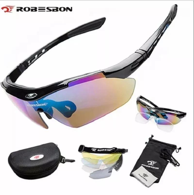 78781ed9c oculos 5 lentes uv400 grau bike moto suporte ciclismo estojo. Carregando  zoom.