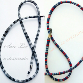8b23fe8b9eed1 Kit 2 Segura Óculos salva Óculos Étnico Redondo Preto azul