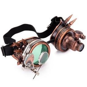 22ac4a5360073 Óculos Steampunk Vitoriano Cyber Punk Cosplay Google Led. R  349