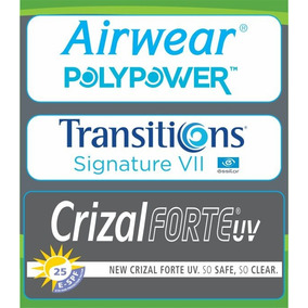 5c1a14217 Lente Airwear Polypower 1,59 Transitions Cinza Crizal Forte