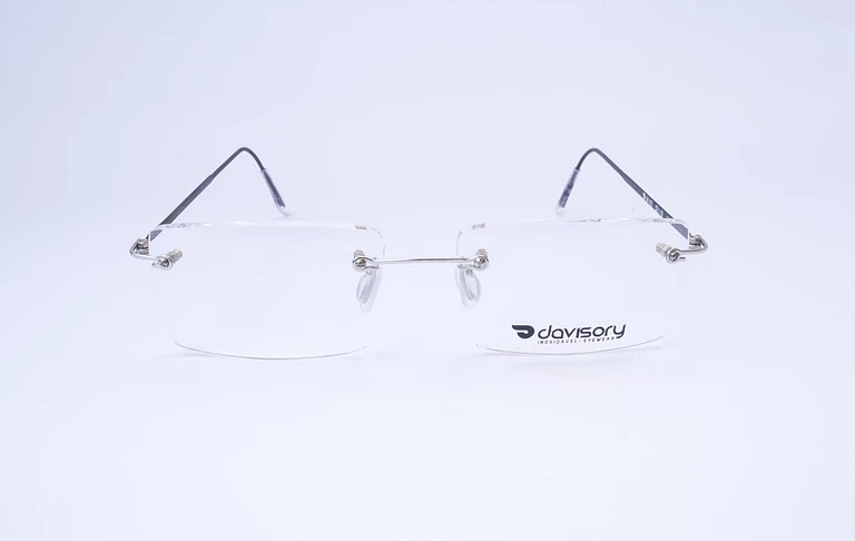 1805636d2ba81 Armação Óculos De Grau Aço Inox Modelo Flutuante - R  139