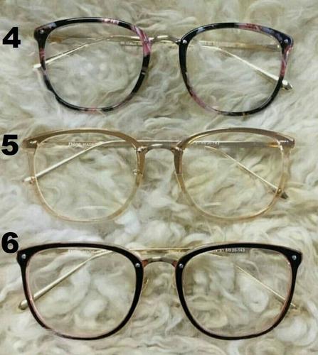 óculos adulto de mulher lente falsa transparente armação top. Carregando  zoom. 93a6d77726