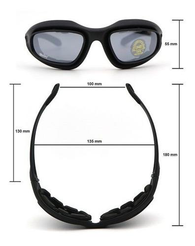 óculos airsoft daisy - prot uv - visão noturna - não embaça