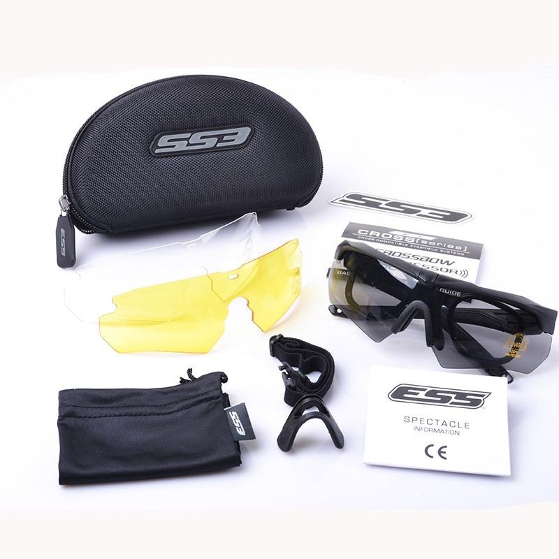 8925e324e Óculos Airsoft Ess Crossbow Preto 3 Lentes + Frete Grátis - R$ 130,00 em  Mercado Livre