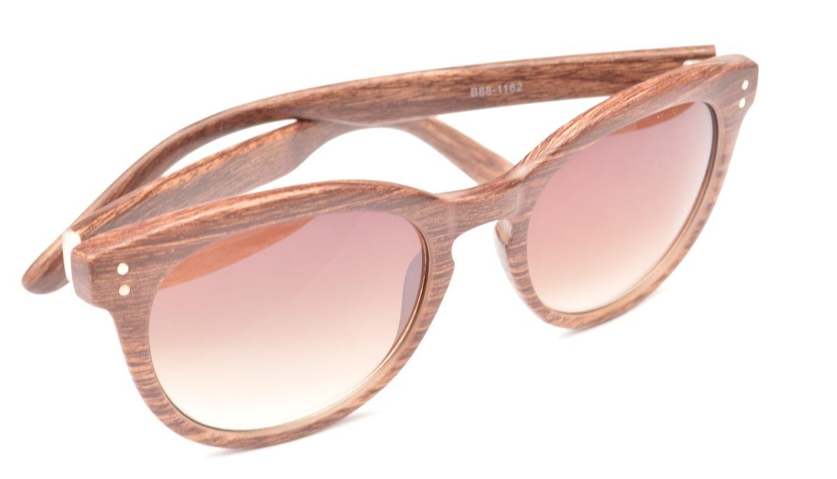 2cd5700f19476 óculos amadeirado semi redondo lentes degrade marrom f18. Carregando zoom.