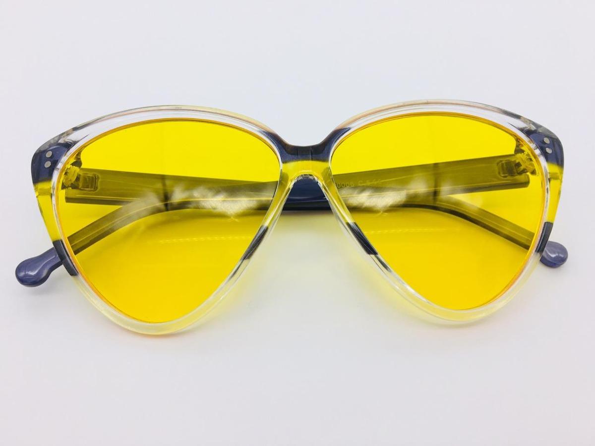 óculos amarelo gatinho feminino acetato uv400 c  estojo. Carregando zoom. 5ea4715875