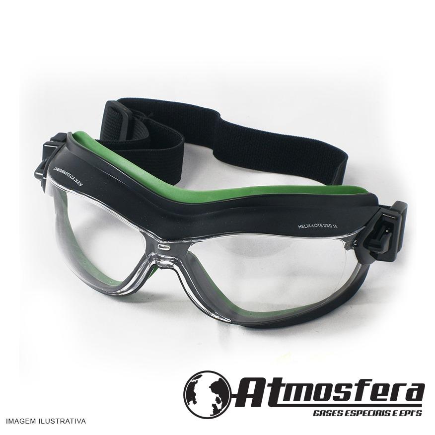 28e2e4c1e88e2 óculos ampla visão helix carbografite cor transparente. Carregando zoom.