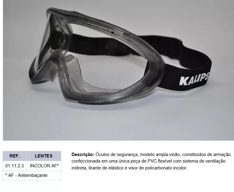 f75bdae73b7cc Oculos Ampla Visão Modelo Angra Kalipso - R  79