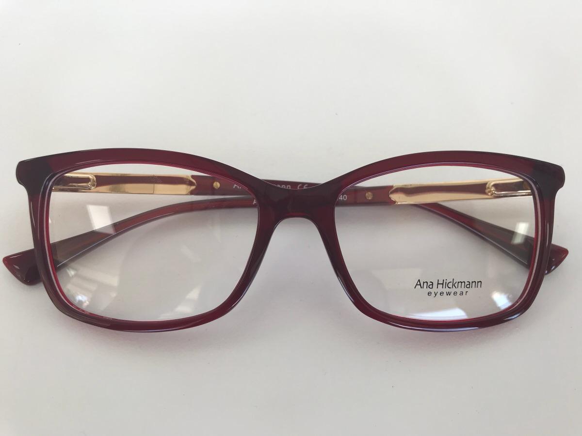 Óculos Ana Hickmam Ah6266 T01 53 17 140 - R  400,00 em Mercado Livre 61e6ea16fb