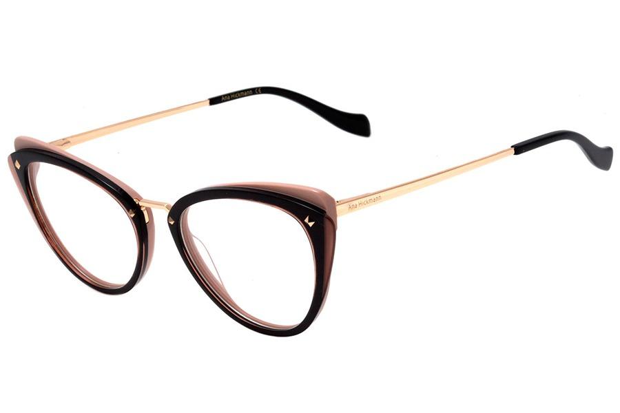 Óculos De Grau Ana Hickmann Ah6326 H01 52 Preto E Rosê - R  517,99 ... 90ac978367