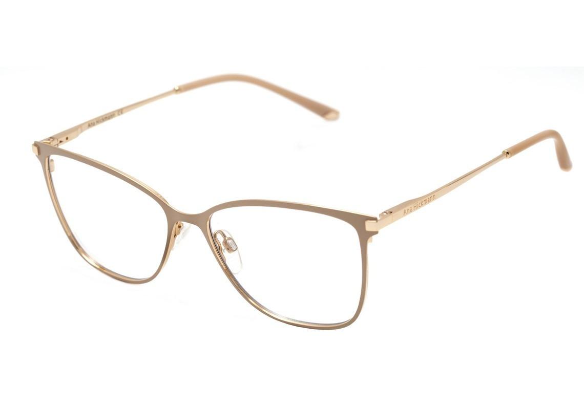 Óculos Ana Hickmann Ah 1340 -04a Bege Fosco E Doura - R  349,90 em ... 8aff370d6b