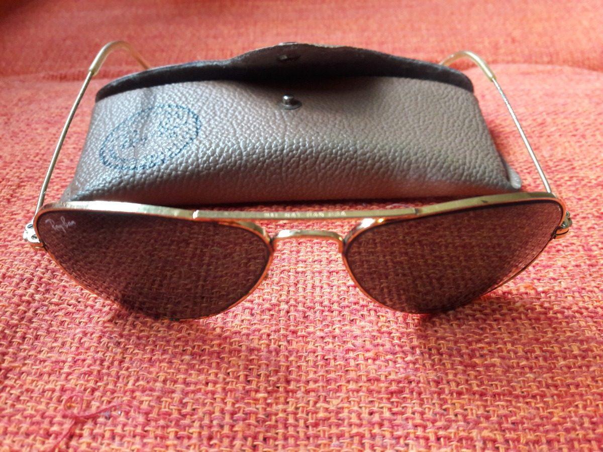 Óculos Antigo De Sol Ray Ban Bl Raro Leia Descrição - R  290,00 em ... 9fdad2862c
