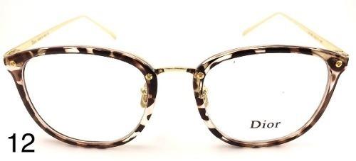Oculos Armacao Acetato Metal Feminino Redondo Quadrad Onca - R  89 ... 072e9fdadf