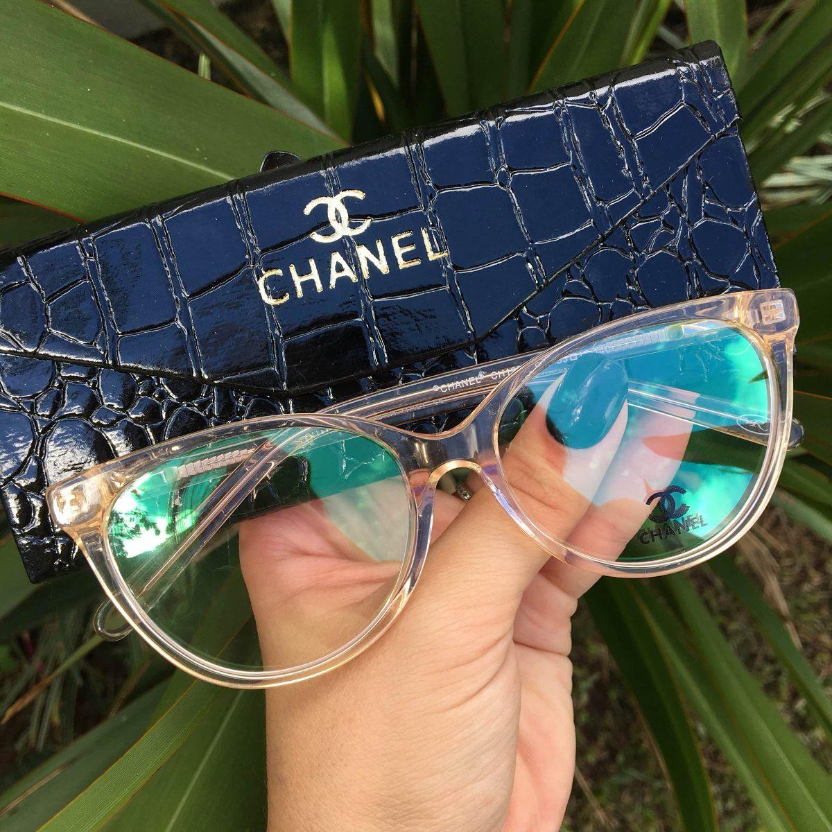 a97fea726dff8 oculos armacao chanel transparente dourada. Carregando zoom.