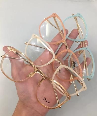 f437cd81a30c3 Oculos Armaçao De Grau Feminino Dior Geek Promoção - R  49