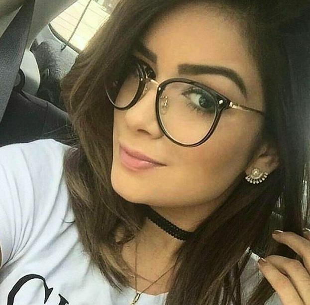 Oculos Armacao De Grau Feminino Redondo Geek Metal C  Brinde - R  58 ... 0473f3ca3c