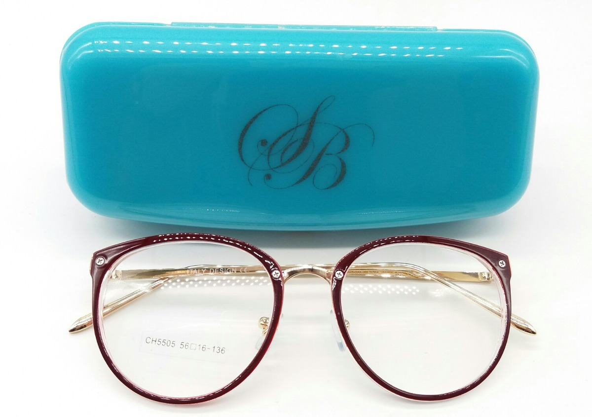 194e93bfeee Oculos Armacao De Grau Feminino Redondo Metal Geek - R  79