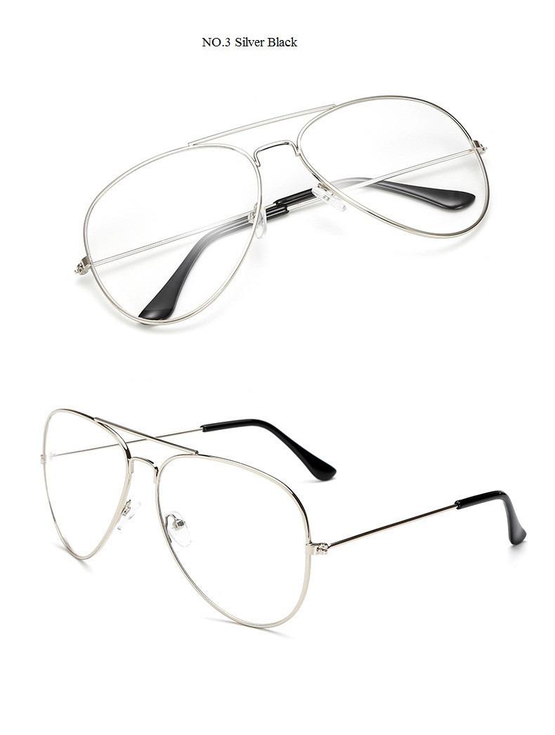 d4dd0546c9af5 oculos armacao estilo aviador lentes s grau unissex revenda. Carregando  zoom.