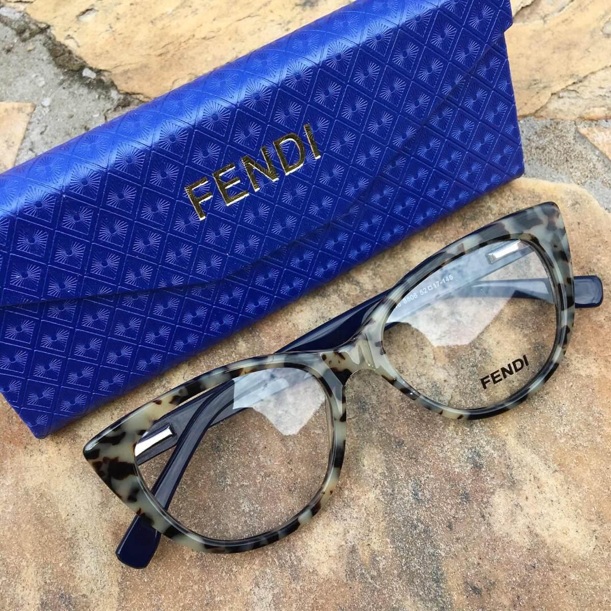 Oculos Armacao Para Grau Onçinha Pintada Fendi - R  155,00 em ... 8bda31152e