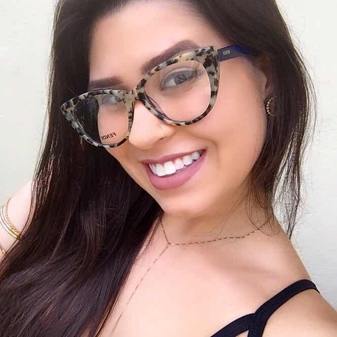 Oculos Armacao Para Grau Onçinha Pintada Fendi - R  155,00 em Mercado Livre fa4dcd2d37