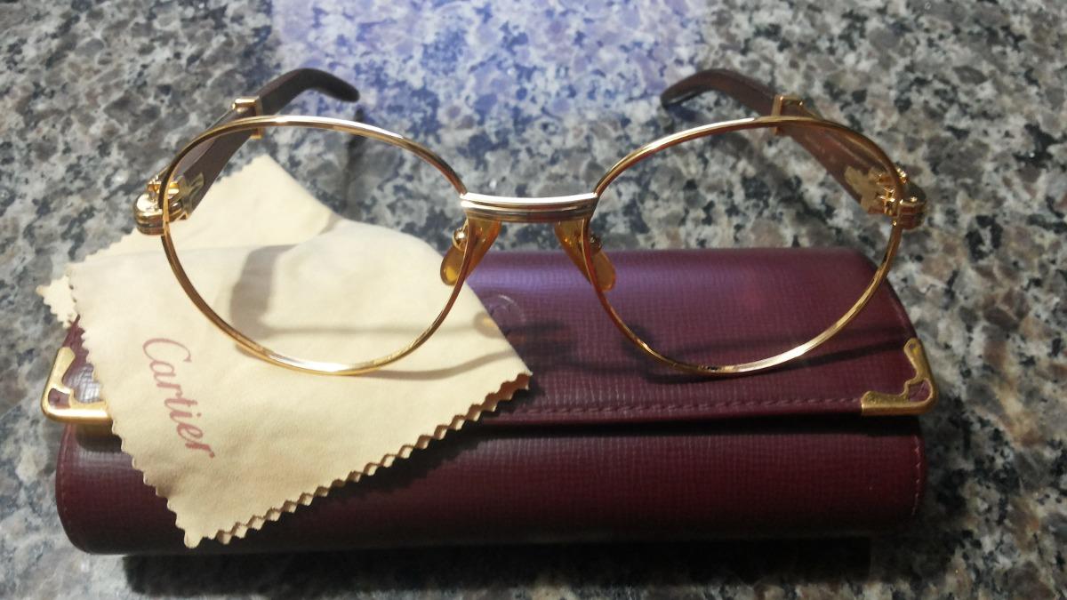 53dd1bca8e8 Óculos   Armação Cartier Em Ouro 18k Original E Legítima. - R ...