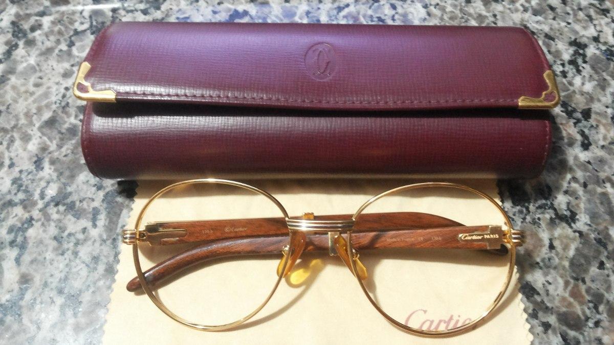 7d95df54fdb74 Óculos   Armação Cartier Em Ouro 18k Original E Legítima. - R ...