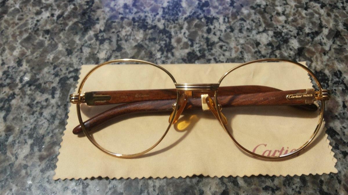 64fba2961de óculos   armação cartier em ouro 18k original e legítima. Carregando zoom.