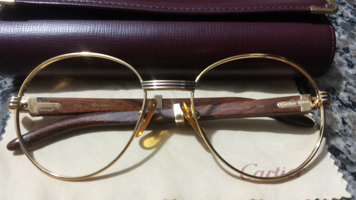 6b9aeca35fd Óculos   Armação Cartier Em Ouro 18k Original E Legítima. - R ...