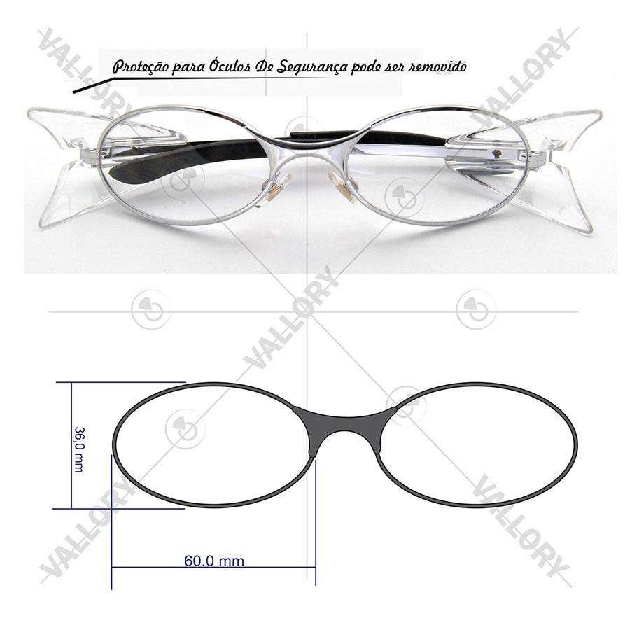 ed1457ab7f54e óculos armação cromado de segurança grau graduado masculino. Carregando  zoom.