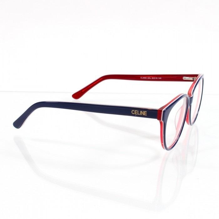 afe4d928af569 Óculos Armação De Grau - Céline Cl4655 Acetato Frete Gratis - R  120 ...