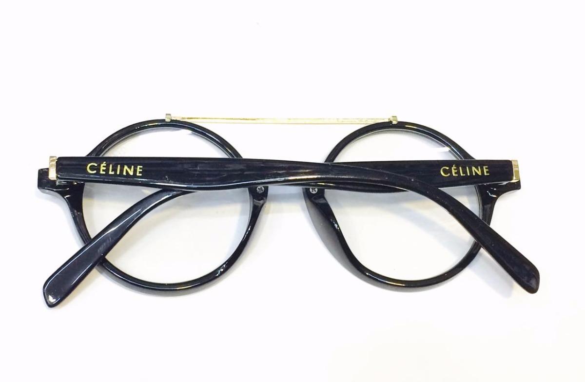 d6b968100ea óculos armação de grau celine modelo redondo preto -ce501. Carregando zoom.