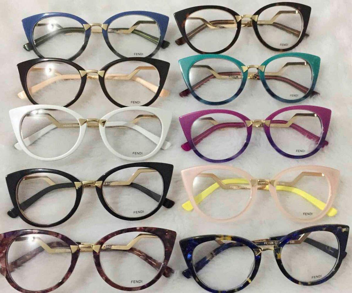 óculos armação de grau estilo gatinho acetato fem. + brinde. Carregando  zoom. 0e0610d7e7
