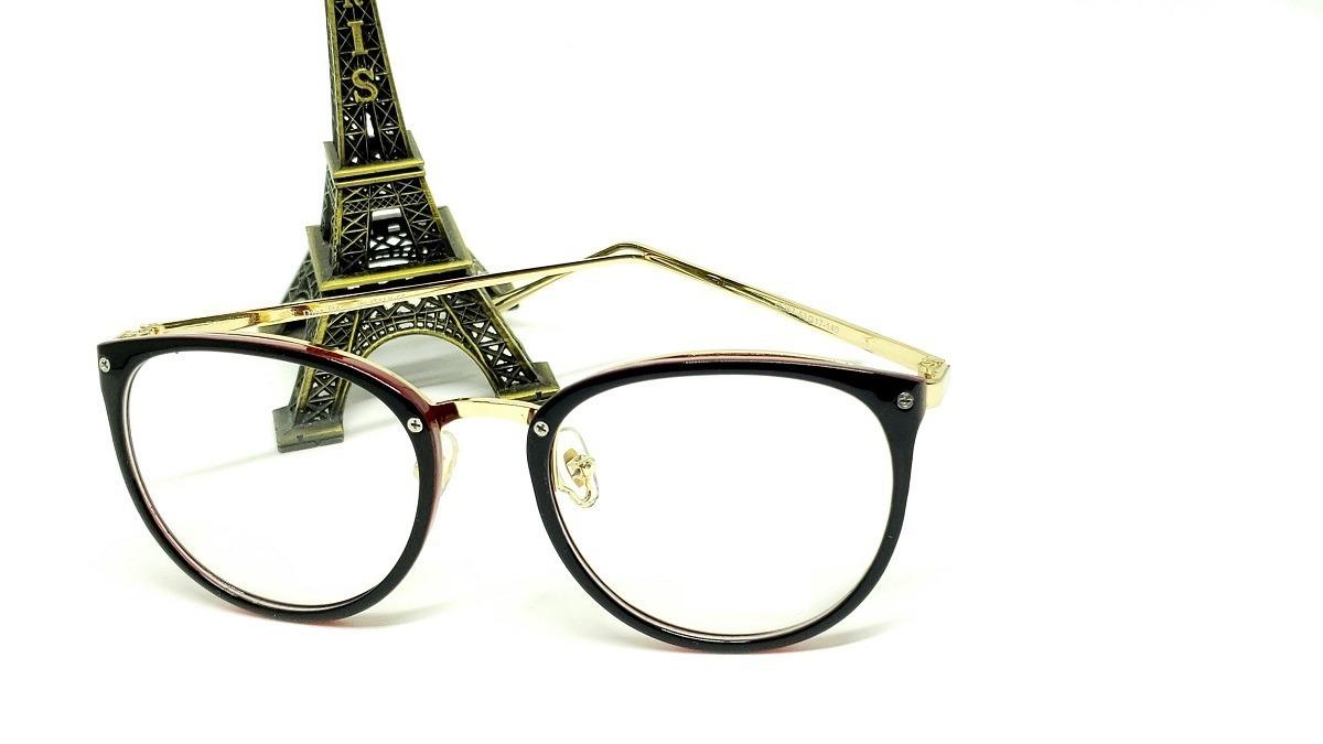 f620a71378508 óculos armação de grau feminino redondo geek frete + brinde. Carregando zoom .