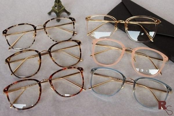 2b0c04845fa7f Óculos Armação De Grau Feminino Redondo Geek Metal C  Brinde - R ...