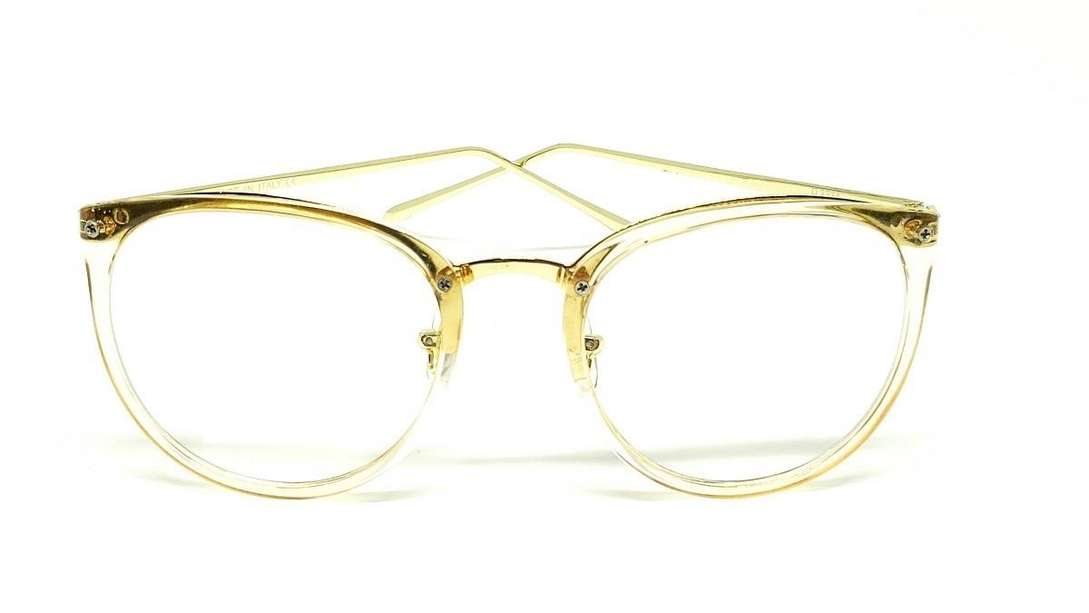 e86bd236966bb óculos armação de grau feminino redondo geek metal c  brinde. Carregando  zoom.