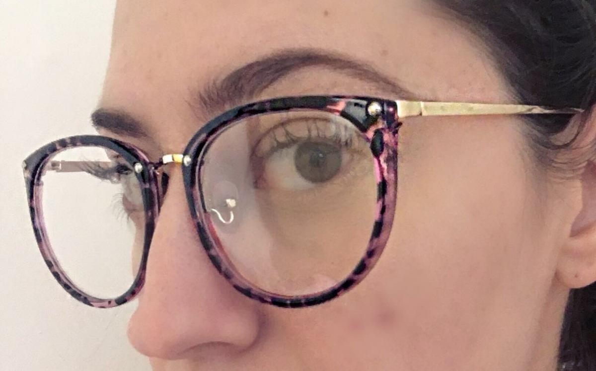 óculos armação de grau feminino redondo geek metal c  brinde. Carregando  zoom. 3513a89499