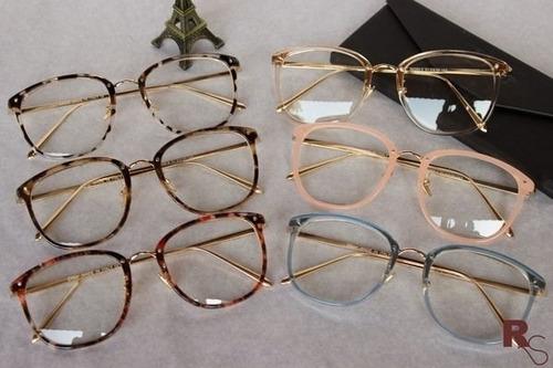 afb9802c9fa1d Óculos Armação De Grau Feminino Redondo Geek Metal C  Brinde - R  60 ...