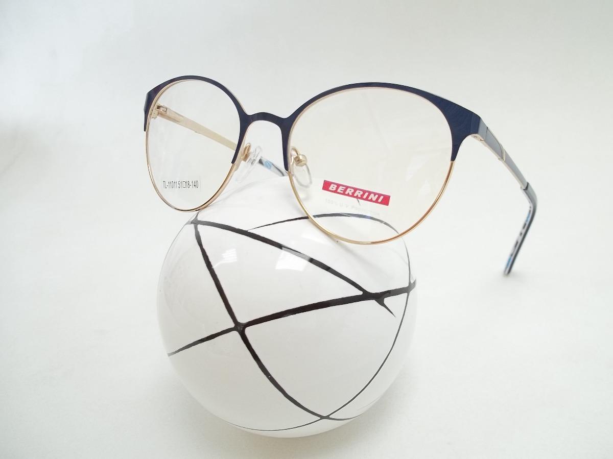 86e7fe0c5c269 Óculos Armação De Grau Feminino Redondo Geek Metal
