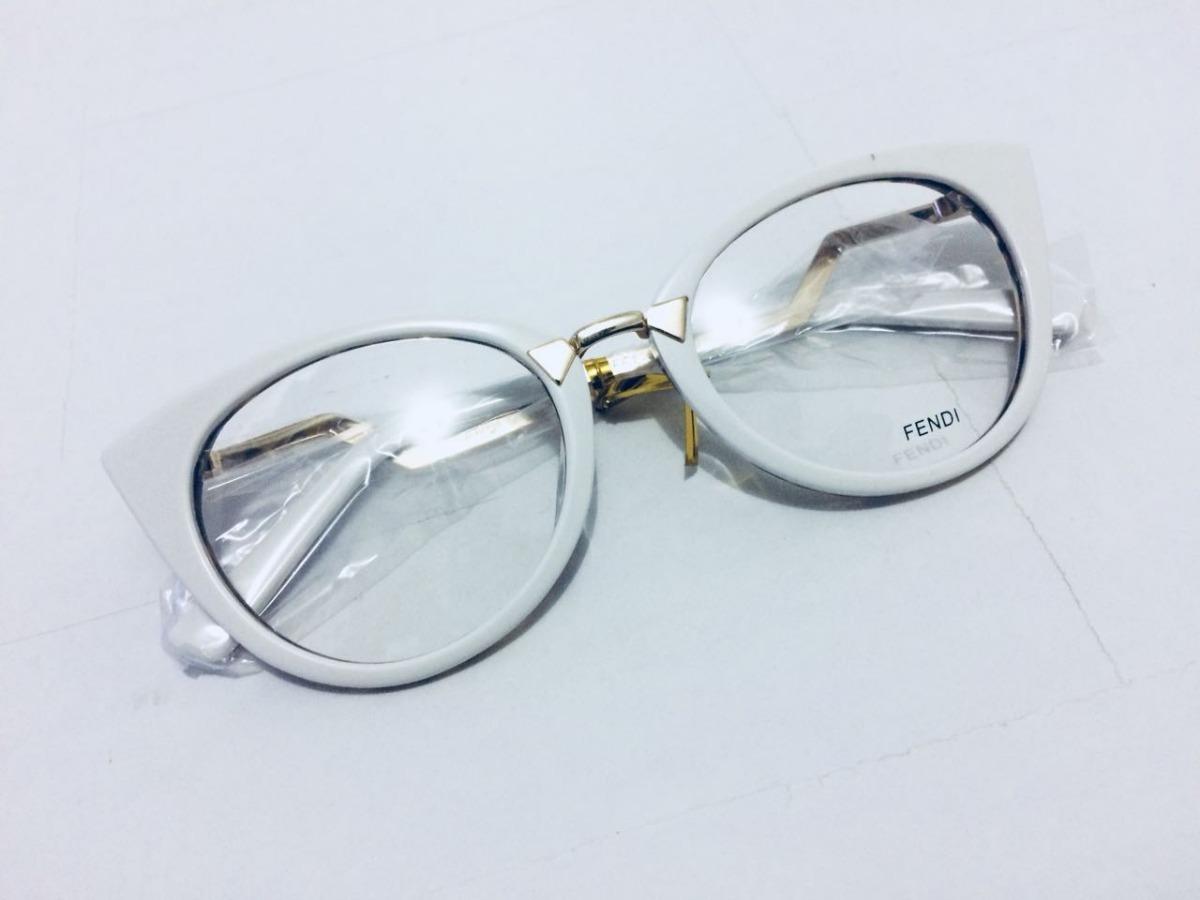 d5f80ca562f70 óculos armação de grau fendi branco envio imediato -fe101. Carregando zoom.