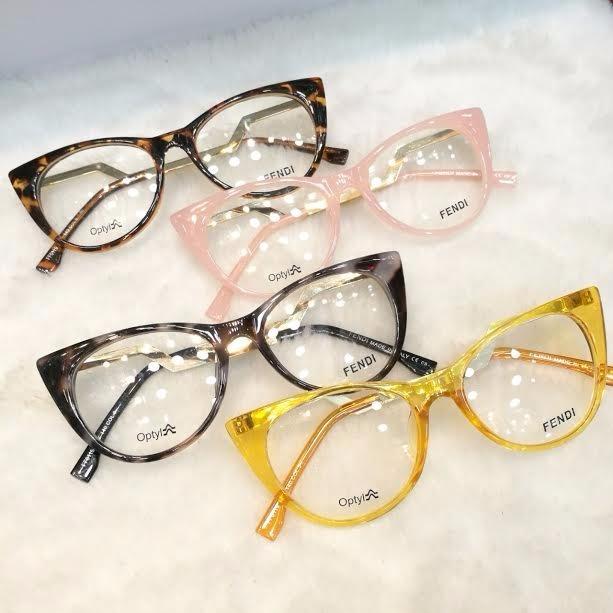 0e1eb70825c12 Óculos Armação De Grau Gatinho Acetato Haste Metal C  Brinde - R ...