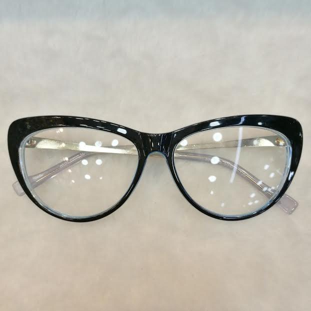 Óculos Armação De Grau Gatinho Geek Acetato Metal + Brinde - R  120 ... 681f02d5ec